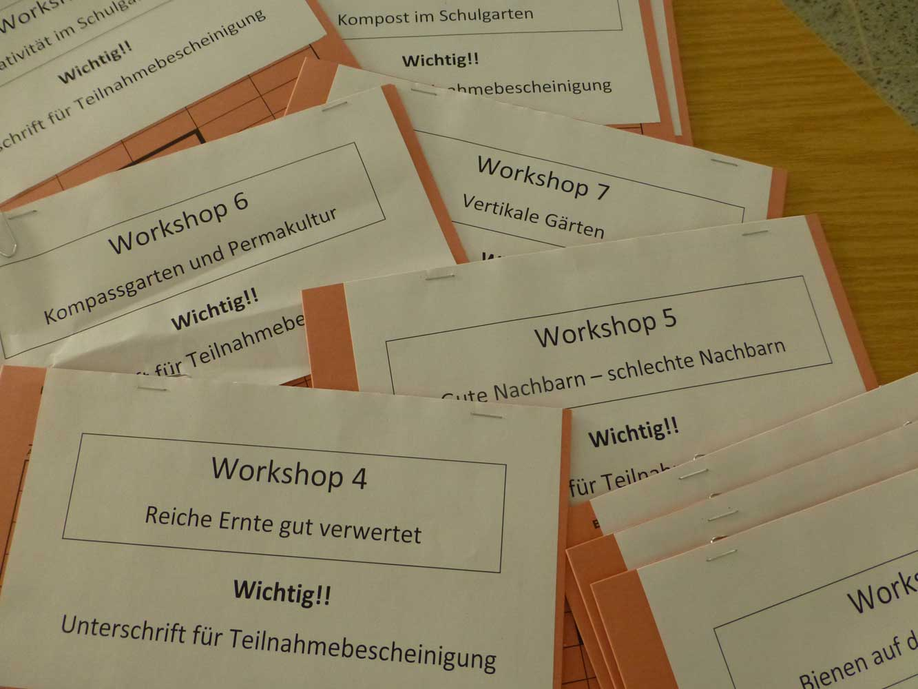 7. Schulgartentag 2019 Workshops